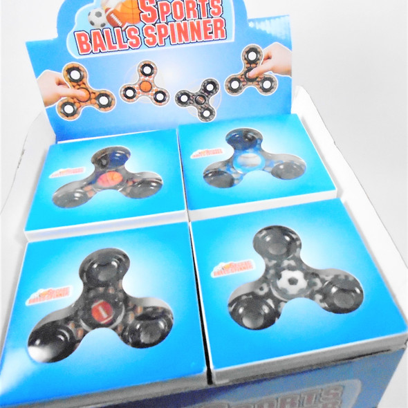 """Best Quality 3"" Fidget Spinners Sports Theme  24 per display bx .50 each"