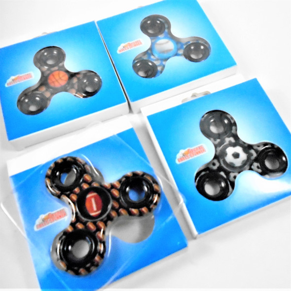 """""""Best Quality 3"""" Fidget Spinners Sports Theme  24 per display bx .50 each"""