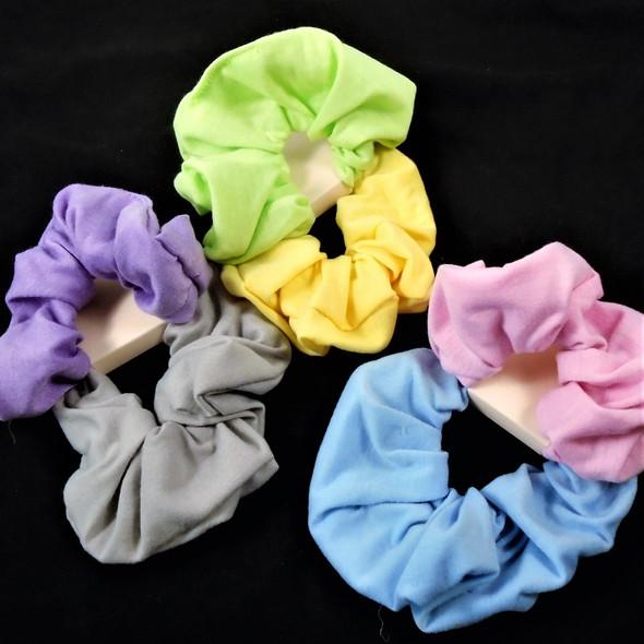 2 Pack Lg. Size Cotton Hair Scrungi  Lite Colors  .54 per set