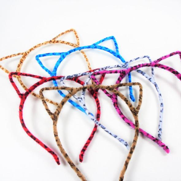 Trendy  Cat Ear Headbands Faux Fur Animal Print Asst Colors  .58 each