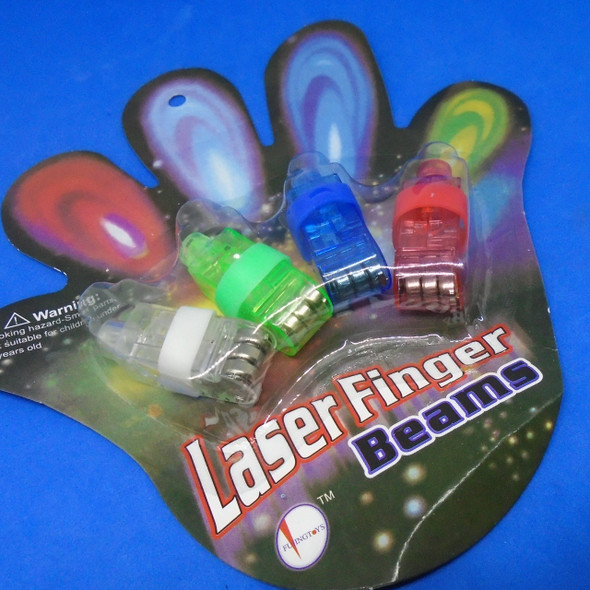 """""""SPECIAL"""" 4 Pack 4 Color Finger Beam Rings .55 per set of 4"""