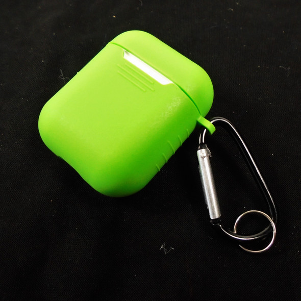 """2"""" Silicone Case Cover for Airpods Case w/ Keychain CLip Asst Colors  12 per pk .65 each"""