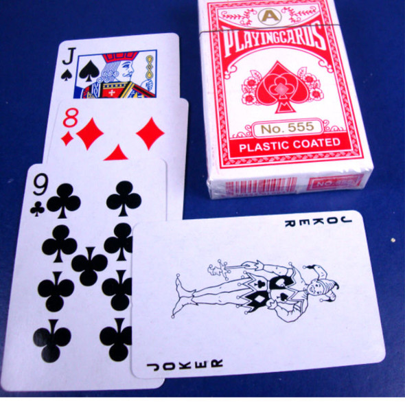 Plastic Coated Playing Cards Red/Blue .60 ea deck