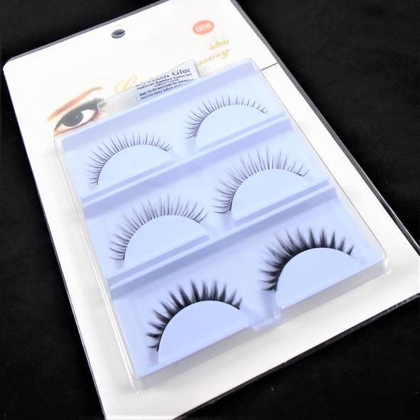 Special 3 Pack Fashion Eye Lashes w/ Glue (208) .58 per set