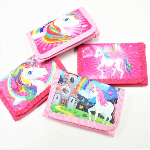 Mixed Style Tri Fold Unicorn Theme Wallets   .60 each
