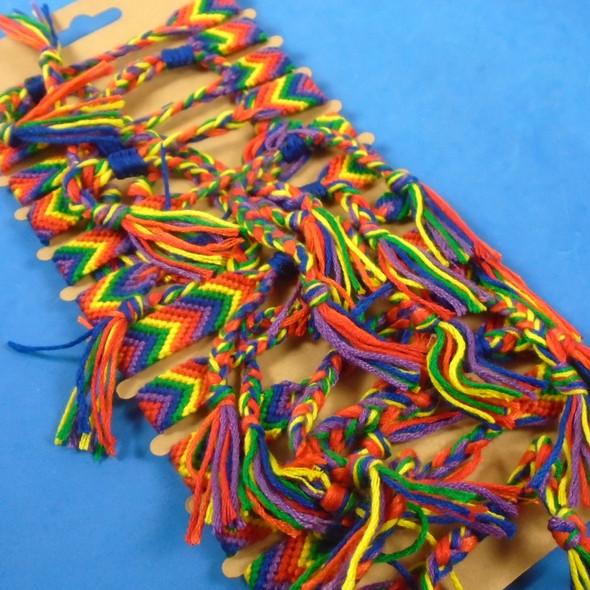 Rainbow Crochet Friendship Bracelets  12 per pk  .54 each