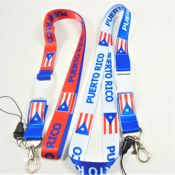 """36"""" DBL Sided Puerto Rico Theme Lanyards  Mixed Colors  .58 ea"""