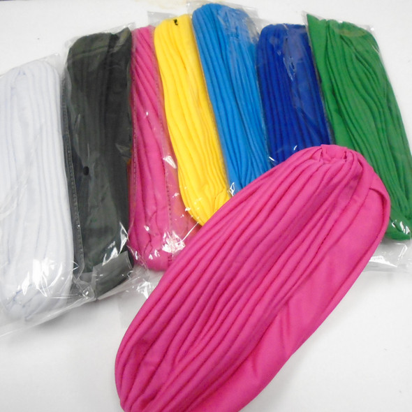Asst Color Pleated Turbins  12 per pk  $ 1.08 each