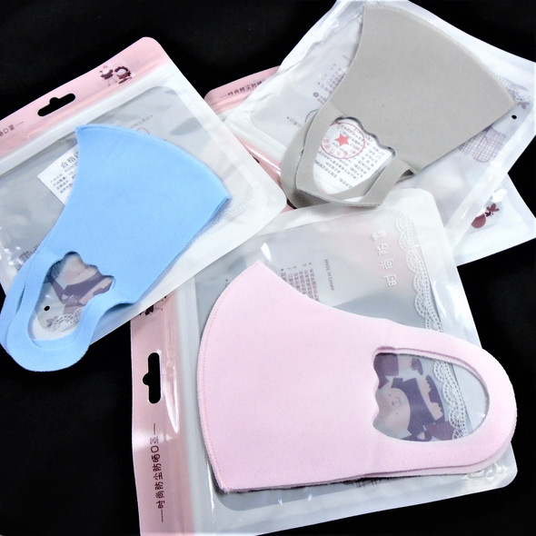 KIDS Face Masks Washable & Reusable 3 Colors 12per pk  .35 each