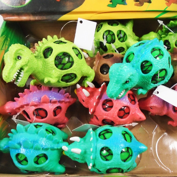 "4""  Gel Super Squish/Stress  Balls Dinosaur Theme  12 per display box .75 ea"