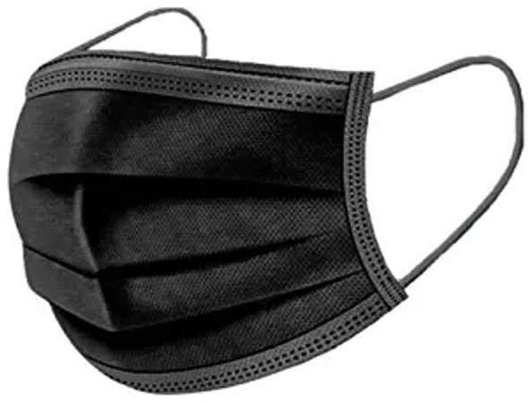 Kids Disposable Protective Masks All Black   50 pcs per  bx