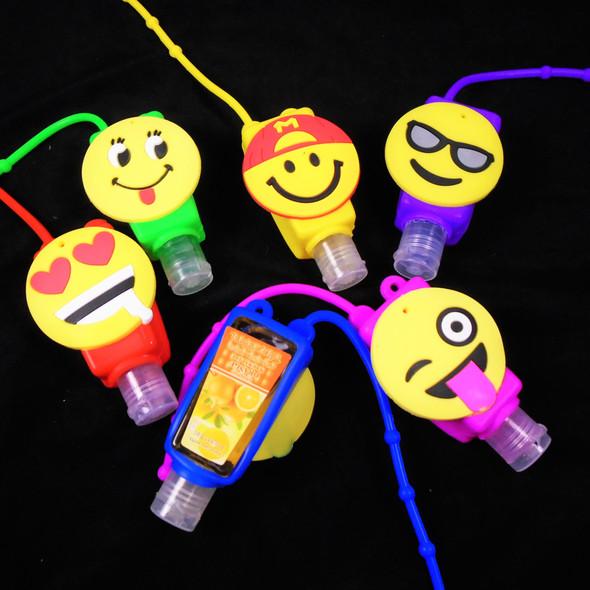 """""""Emoji  Theme Fruit Scented Hand Santizers 12 per pk (851)@ .56 ea"""