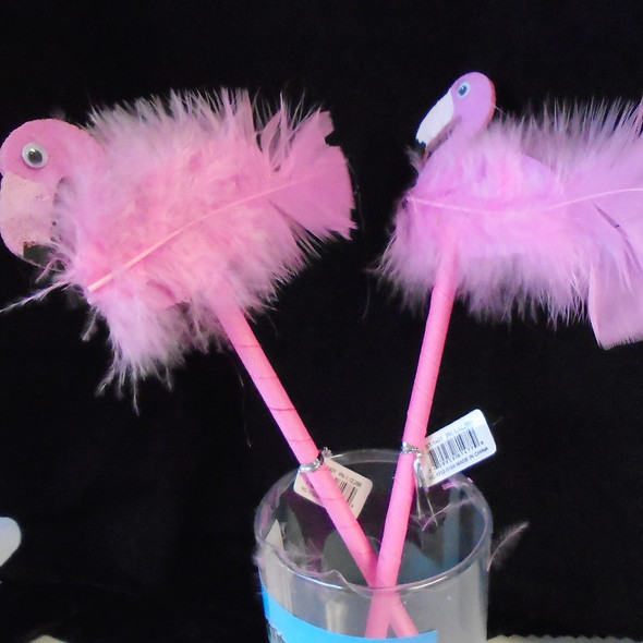 "10"" Pink Fury & Featherly Novelty Flamingo Pens  12 per unit  .70 ea"
