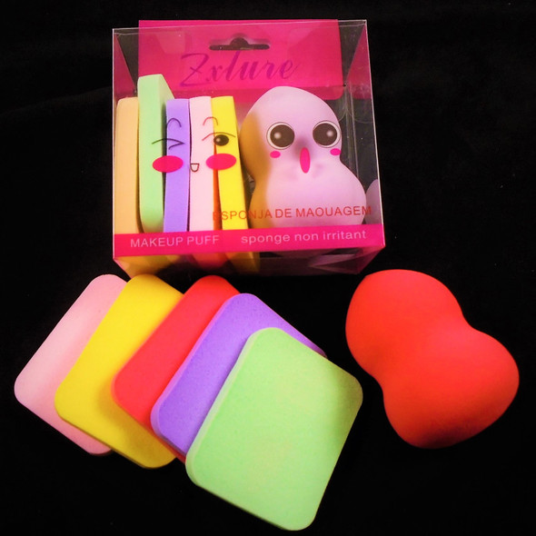 """6 PC 2"""" Makeup Sponges Mixed Colors  .65 per set"""