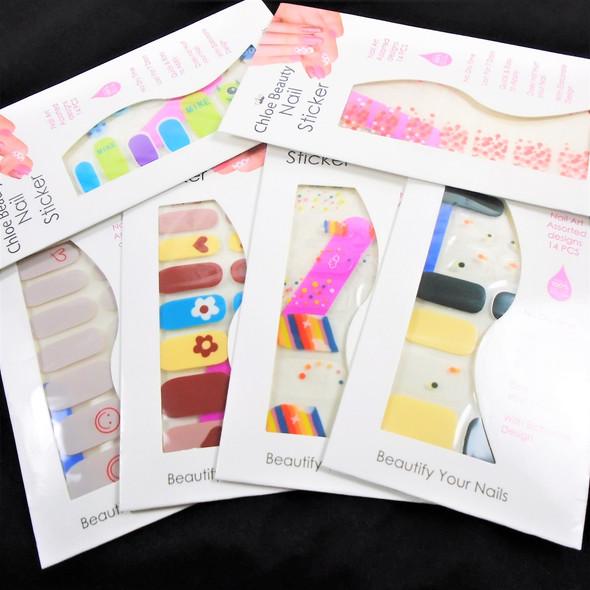 Fashion Nail Stickers Sets 6 styles   (71)  .54 each set