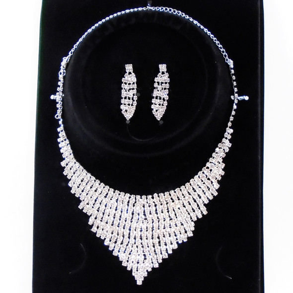 SPECIAL Silver Rhinestone Fashion Necklace Set (50) sold by set $ 2.95 each