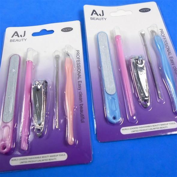 5 Pc Cosmetic Tool Set Mixed Colors  .60 per set