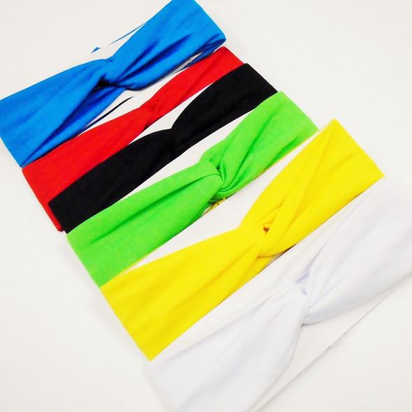 """""""3"""" Knot Center Asst Color Stretch Fashion Headwraps .58  ea"""