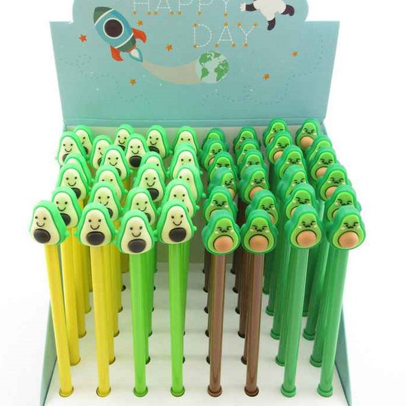 """SPECIAL PRICE Best Quality 7"""" Avocado Theme Novelty Pens  48 per bx   .42 each"""