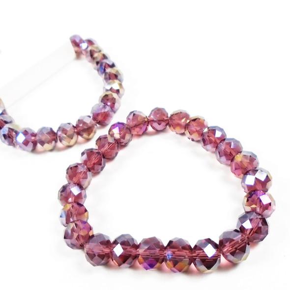 10MM  Shiney Purple Bead  Stretch Bracelets 12 per pk .60  each