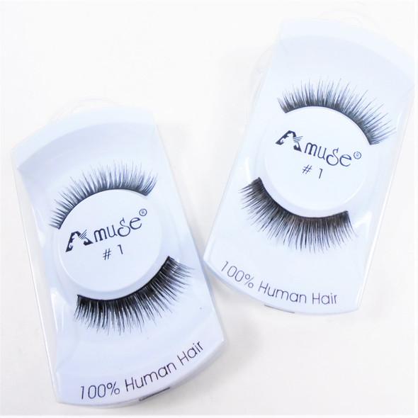 SPECIAL Handmade  Human Hair Eyelashes #1  .75 per set