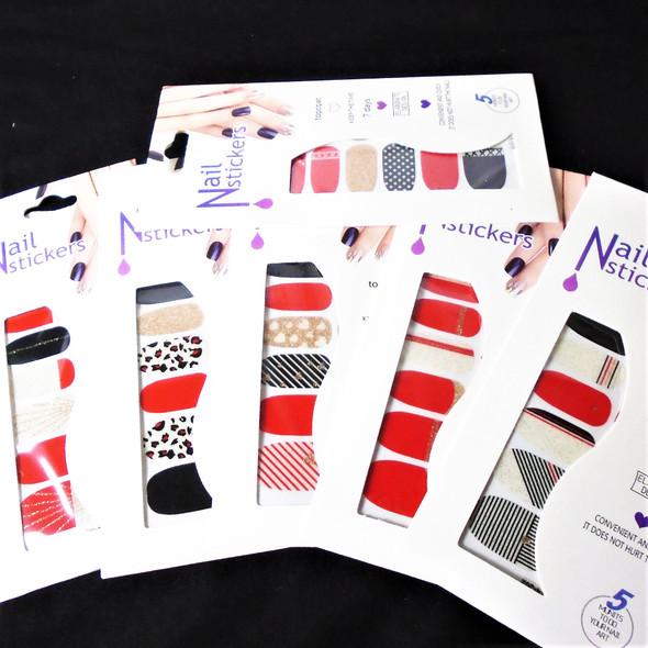 Trending Fashion Nail Stickers 6 styles   (701)  .54 each set