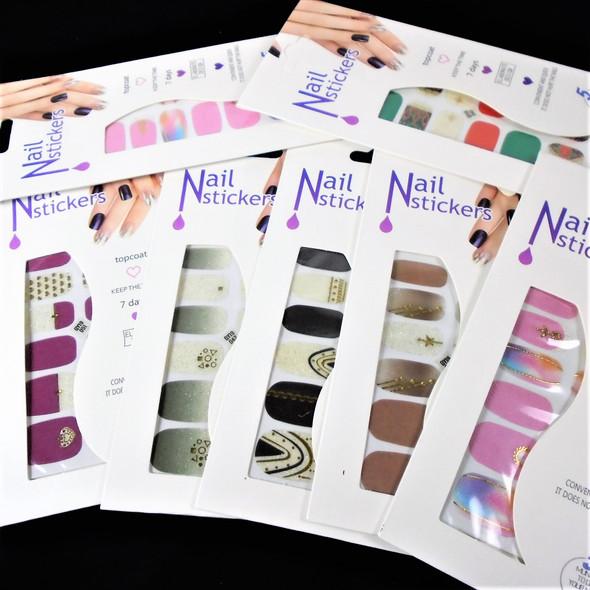 Trending Fashion Nail Stickers 6 styles   (698)  .54 each set