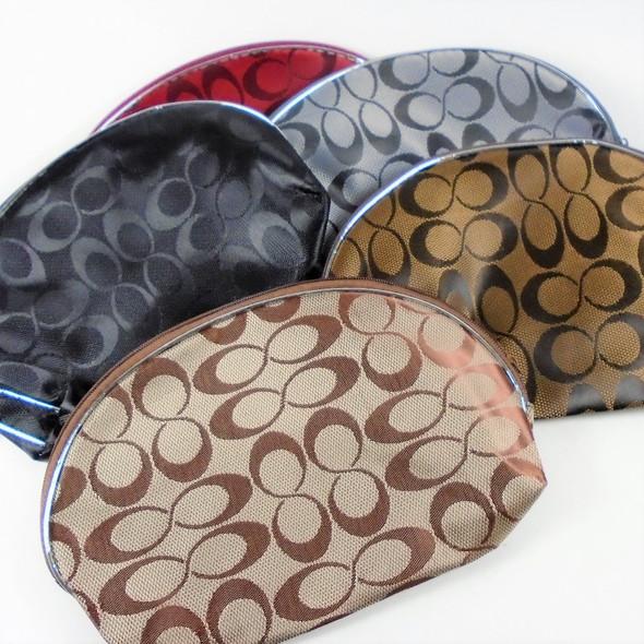 """5"""" X 8"""" Designer Look """"C"""" Print Zipper All Purpose Bag Asst Color .75 ea"""