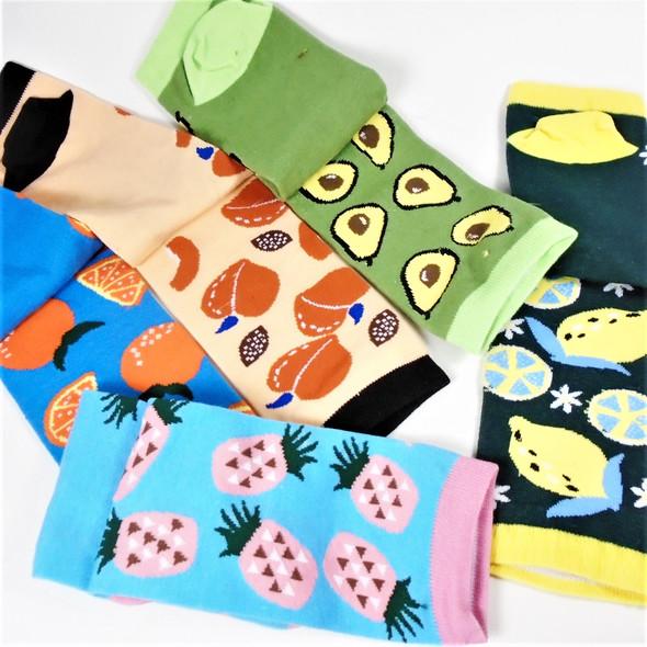Trendy 5 Summer Style Novelty Low Cut Socks Fruit Theme   .62  per pair