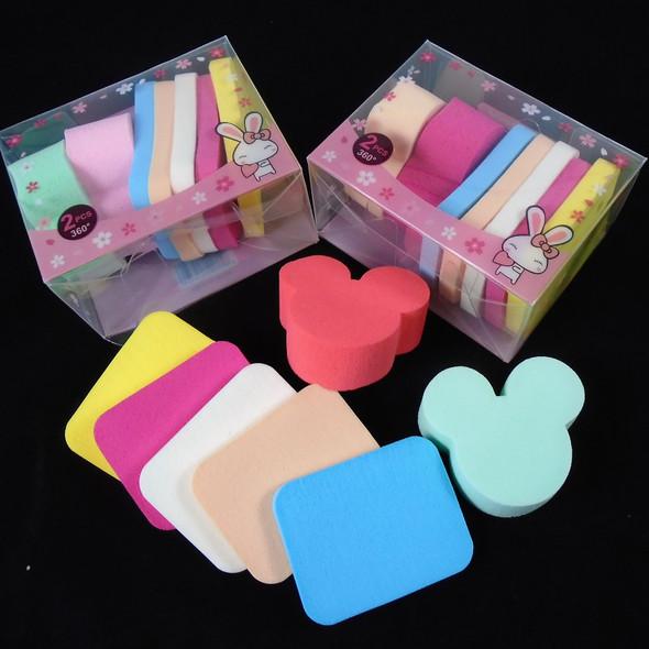 """7 PC 2"""" Makeup Sponges Mixed Colors  .65 per set"""