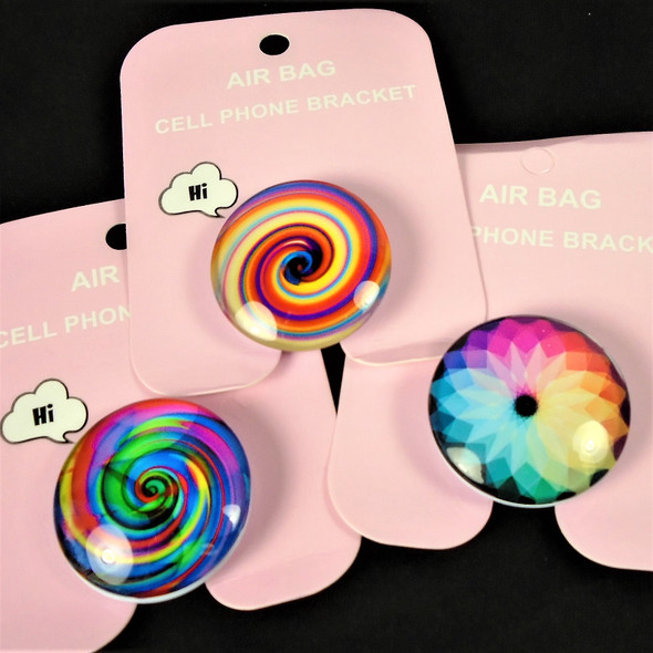 Air Bag Cell Phone Stand Multi Color Pattern 12 per pk .58 each