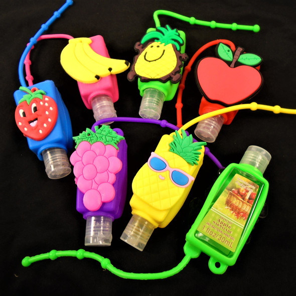 Fruit Scented  Pocket Size Hand Sanitizer MX Fruits Theme 12 per pk  .56 ea