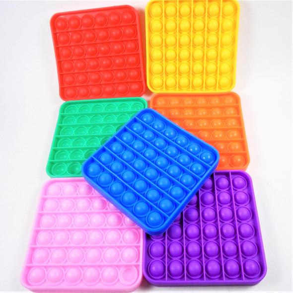"5"" Silicone Fidget Popper SQUARE Mixed Bright Colors  $ 1.65 each"