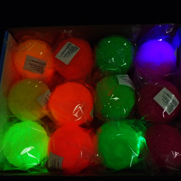 """2.75"""" Textured Frosted Neon Color Flashing Bounce Balls 12 per bx  .70 ea"""