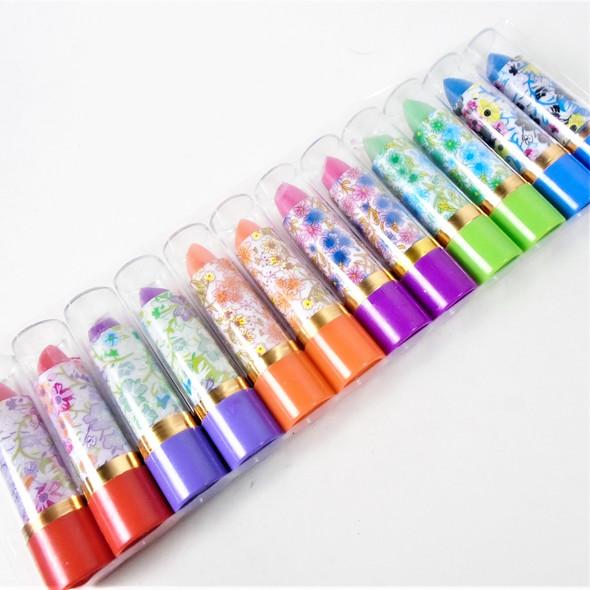 Mood Lipstick Asst Color Floral Case 12 per tray .35 ea