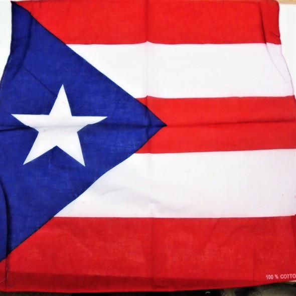 Bandana Puerto Rico Country Flag  100% Cotton .56 each