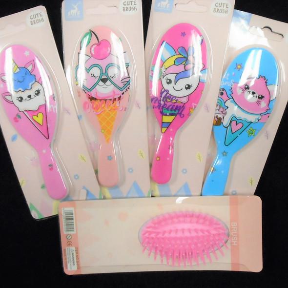 """5"""" Colorful Cute Ice Cream Cone Theme Hair Brushes  .60  each"""