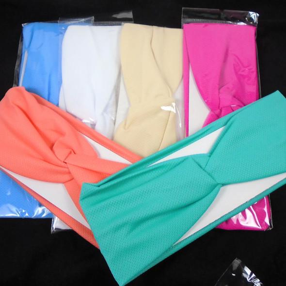 New Lightweight Textured Stretch Headbands  6 colors  .56 each