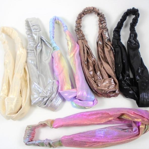 Metallic Fabric Elastic Stretch Fashion Headband   .58 each