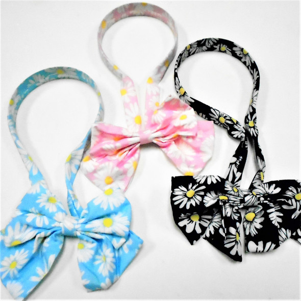 NEW Scarf Headband w/ Bow  Daisy Prints  Asst Colors  .60 each