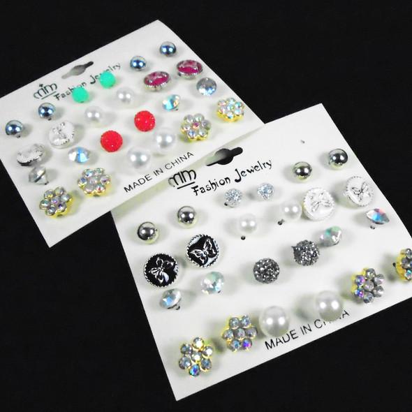 Value Pack 12 Pair Earrings (3943)  .58 per set