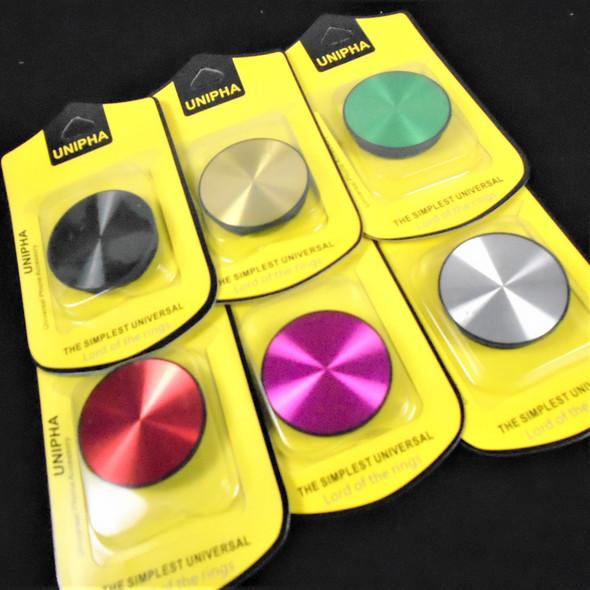 Air Bag Cell Phone Stand Mixed Metallic  Colors 12 per pk .58 ea