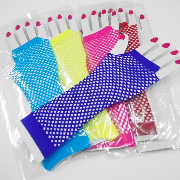 Long Fish Net Fashion Gloves Asst  Colors  .56 per pair