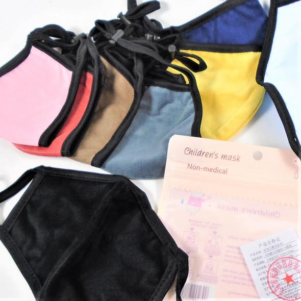 KIDS Soft 2 Layer Adj. Protective Face Mask Mixed Colors  12 per pk $ .41 ea