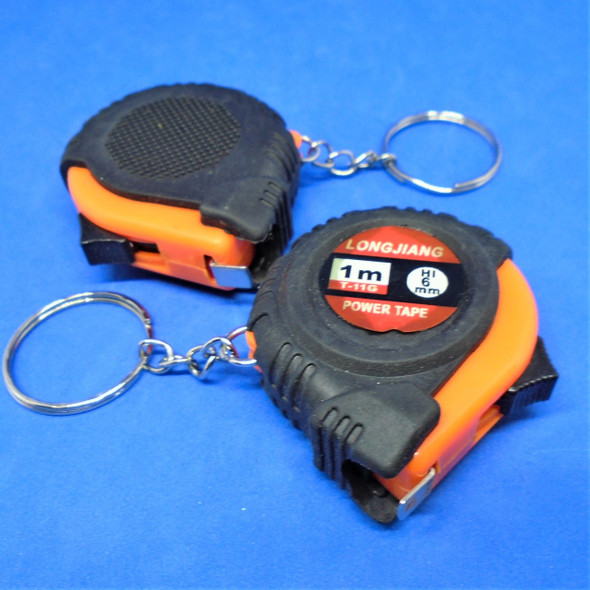Great for Dad Rubber Grip 3 Ft Tape Measure Keychains .62 ea