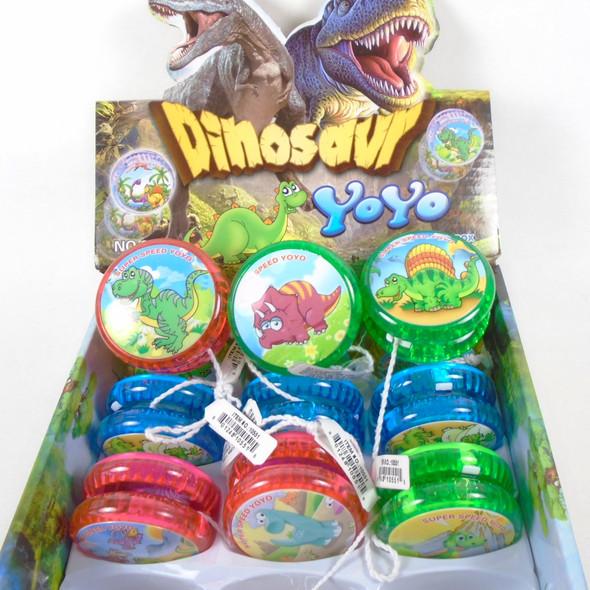 Mix Dinosaur Theme Light Up YoYo 1-dz display bx  .62 ea