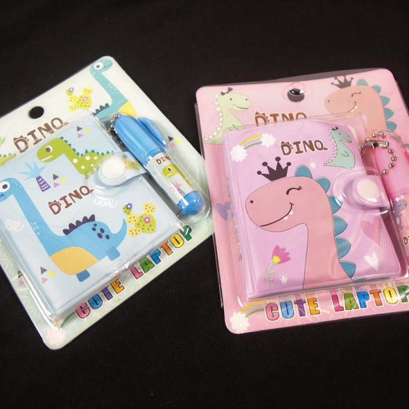 Dinosaur Theme Mini Diary Set w/ Pen  24 per bx .60 each
