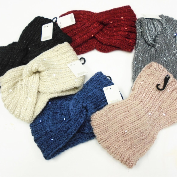 "5"" Winter Knit Headbands w/ Hint of Sparkle  12 per pk  $ 2.33 each"