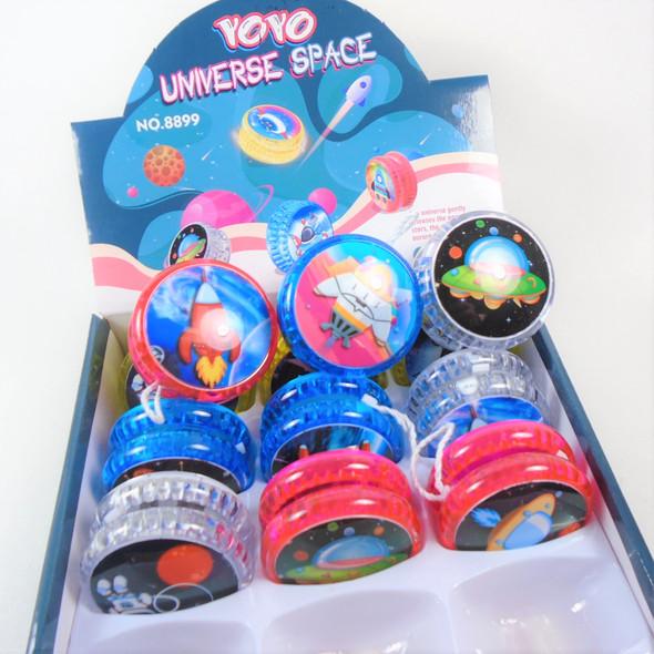 Light Up Universe Space Theme YoYo's 12 per display bx .65 each