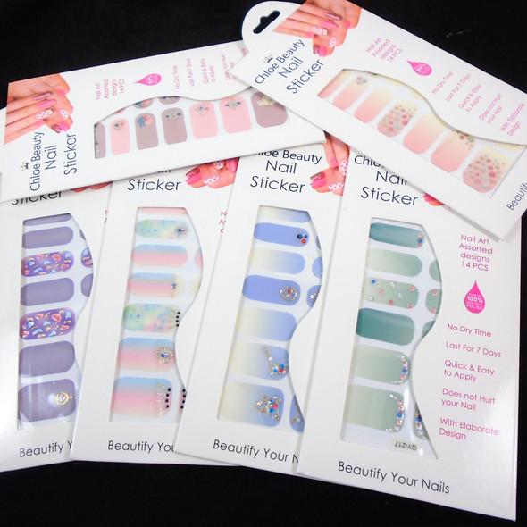 Trending Fashion Nail Stickers 6 styles   (935)  .54 each set